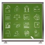 Negócio, finança e ícones do banco Imagem de Stock Royalty Free