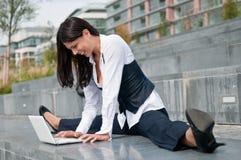 Negócio flexível - mulher Fotografia de Stock