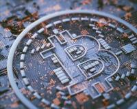 Negócio global de Cryptocurrency Digital Fotos de Stock