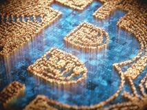 Negócio global de Cryptocurrency Digital Fotografia de Stock