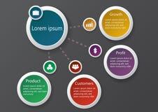 Negócio infographic01 Fotografia de Stock Royalty Free