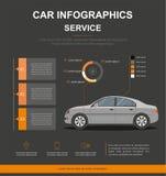 Negócio infographic com carro Projeto do infographics do serviço do carro auto Foto de Stock