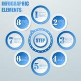 Negócio Infographic dos círculos Fotografia de Stock