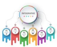 Negócio Infographic Molde de papel do origâmi imagem de stock royalty free