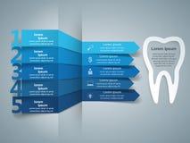 Negócio Infographics Ícone do dente foto de stock