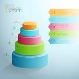 Negócio Infographics cinco fases sob a forma de ilustração stock