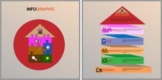 Negócio Infographics O espaço temporal com 6 etapas ilustração stock