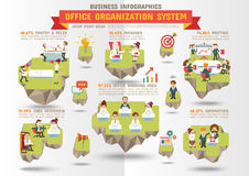 Negócio Infographics, sistema da organização de escritório Imagens de Stock Royalty Free