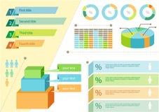 Negócio liso ajustado do projeto de Infographic ilustração stock