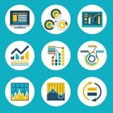 Negócio liso retro Infographics do estilo do projeto dos dados Imagens de Stock