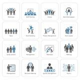Negócio liso Team Icons Set do projeto Fotos de Stock Royalty Free