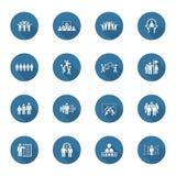 Negócio liso Team Icons Set do projeto Foto de Stock Royalty Free