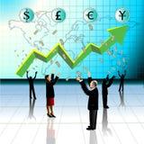 Negócio, lucros do aumento Fotos de Stock Royalty Free