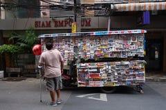 Negócio móvel pequeno que vende etiquetas Foto de Stock