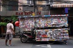 Negócio móvel pequeno que vende etiquetas Fotos de Stock Royalty Free