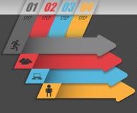 Negócio moderno infographic, grupo de setas abstratas Fotografia de Stock Royalty Free