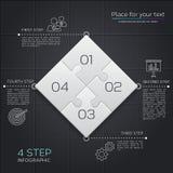 Negócio moderno infographic para sua apresentação Quatro partes do enigma Vetor ilustração royalty free