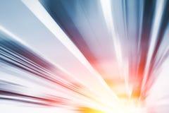Negócio movente rápido da estrada de alta velocidade do borrão fotografia de stock