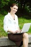 Negócio-mulher nova Imagem de Stock Royalty Free