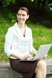 Negócio-mulher nova Imagens de Stock