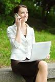 Negócio-mulher nova Imagens de Stock Royalty Free