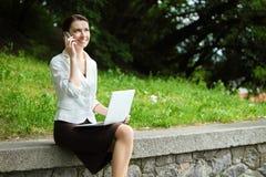 Negócio-mulher nova Fotos de Stock