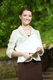 Negócio-mulher nova Foto de Stock Royalty Free