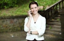 Negócio-mulher nova Fotografia de Stock