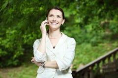 Negócio-mulher nova Fotografia de Stock Royalty Free