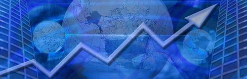 Negócio mundial e sucesso financeiro Imagens de Stock Royalty Free
