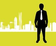 Negócio na cidade Imagens de Stock