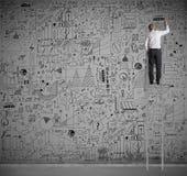 Negócio na parede Imagem de Stock
