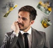 Negócio no fumo Imagem de Stock
