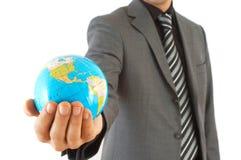 Negócio no globo Imagem de Stock