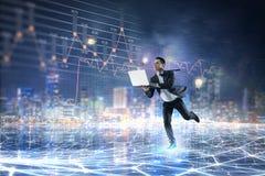 Negócio no movimento Meios mistos Imagem de Stock