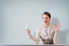 Negócio no telefone Foto de Stock