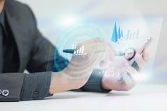 Negócio no telefone esperto Fotos de Stock