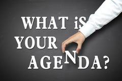 Negócio o que é seu conceito da agenda fotos de stock royalty free