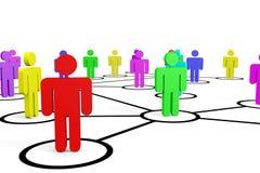 Negócio ou rede social. Conceito. Foto de Stock Royalty Free