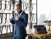 Negócio Person Work Indoors Concept Fotos de Stock Royalty Free