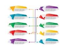Negócio poligonal colorido se gráfico Fotografia de Stock Royalty Free
