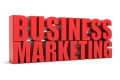 Negócio que introduz no mercado o texto 3d Imagem de Stock Royalty Free