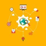 Negócio que procura o illustrat liso infographic do projeto dos dados Fotografia de Stock Royalty Free