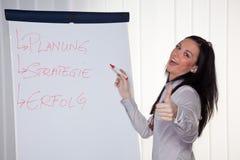Negócio que treina para e por mulheres novas Fotos de Stock