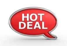 Negócio quente - 3d rendem Imagens de Stock