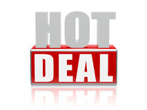 Negócio quente - letras e bloco Fotografia de Stock Royalty Free