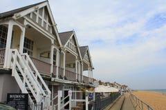 Negócio Reino Unido das casas de praia Fotos de Stock Royalty Free