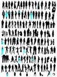 Negócio, silhuetas da variedade da forma Imagem de Stock