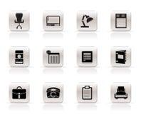 Negócio simples, escritório e ícones firmes ilustração stock