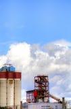 Negócio - skyline da cidade dos grampos Fotos de Stock Royalty Free